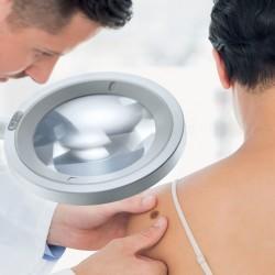 OPTICLUX - Lampe loupe LED avec lumière de Wood - diamètre 160 mm